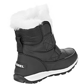 Sorel Whitney Short Velcro Boots Children Black/Sea Salt
